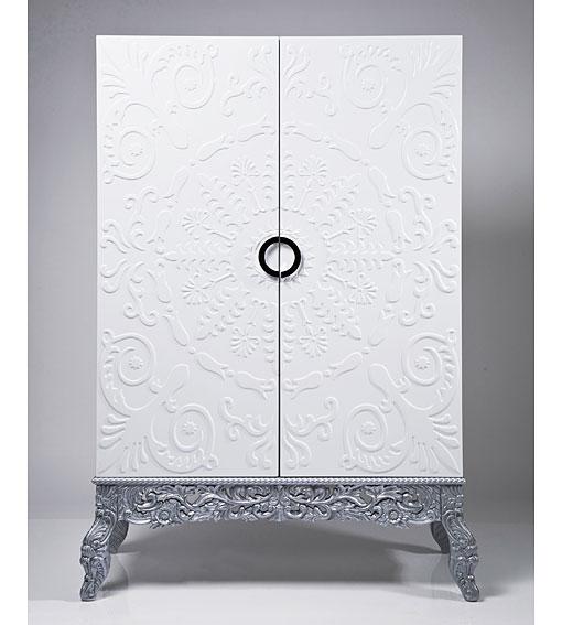 Armarios en blanco y plata - Armario dormitorio blanco ...