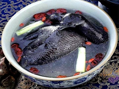 asiatische Seidenhuhnsuppe