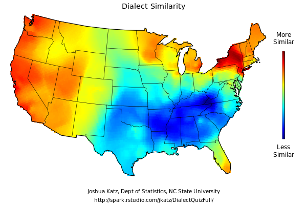 Sandwalk My American Dialect - Us dialect map quiz