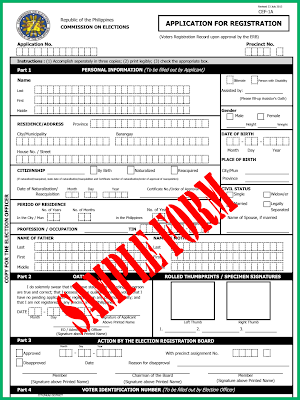 Barangay Elections Registration Form