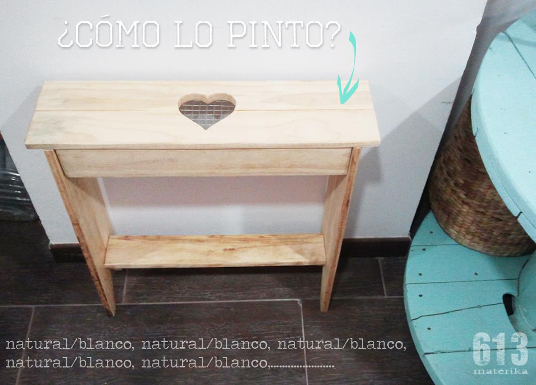 Muebles con palets banquito coraz n 613materika - Muebles con palet ...