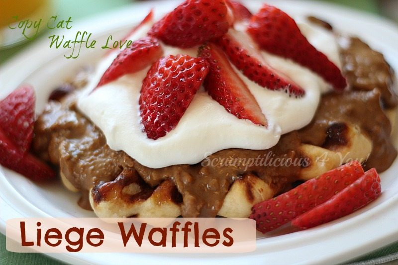 Liege Waffle with Biscoff Spread