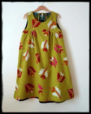 Dress lined with Gudrun Sjödén's Krokus fabric