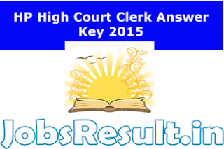 HP High Court Clerk Answer Key 2015