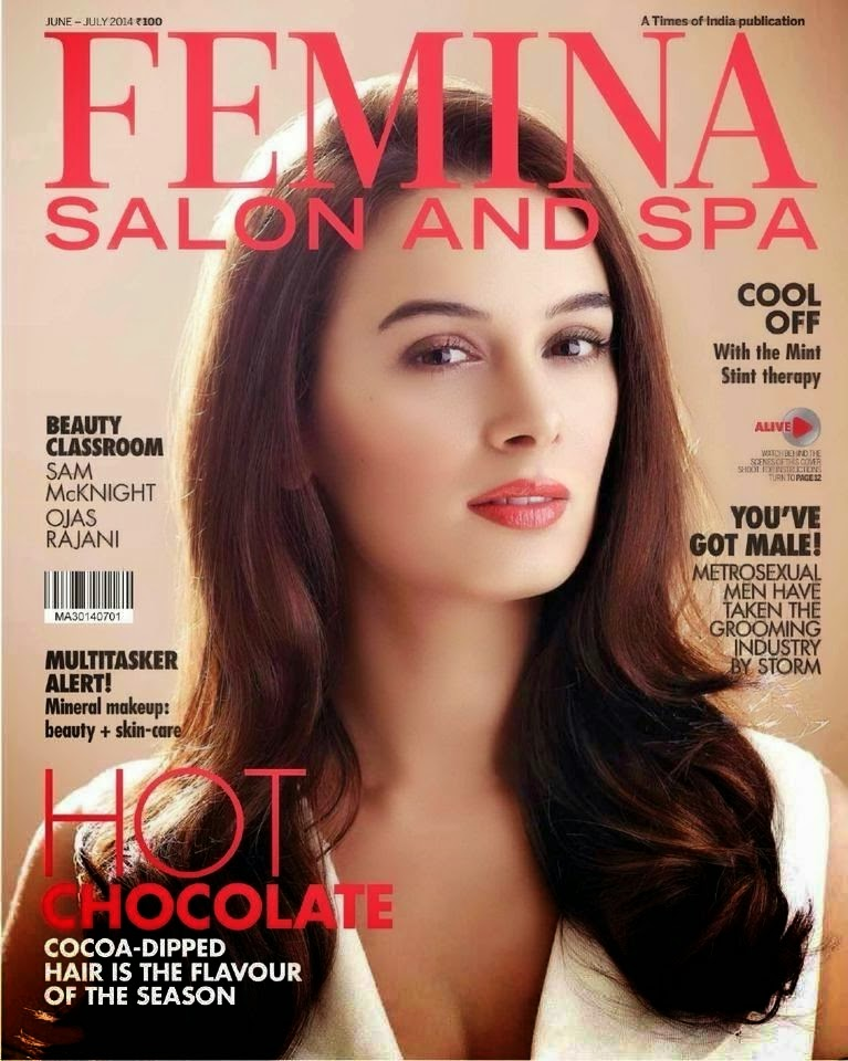 Evelyn Sharma on Cover of Femina Salon and Spa