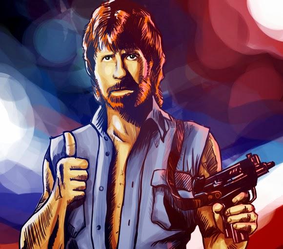 Chuck Norris épico, deixando Van Damme no chinelo!