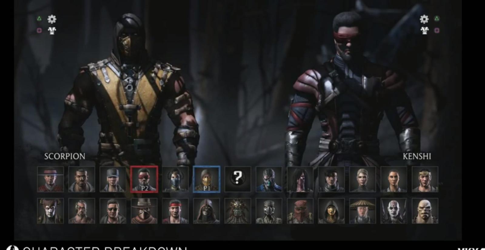 Ecco il roster finale per Mortal Kombat X