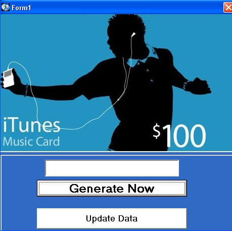 iTunes Gift Card Generator - Free Download - New Update - Keygen Free