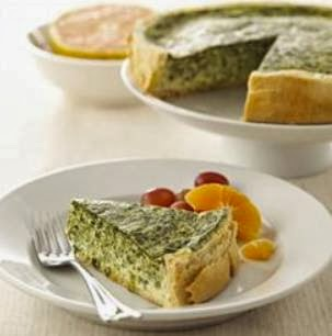 Breakfast Recipe; Chavrie Spinach Quiche