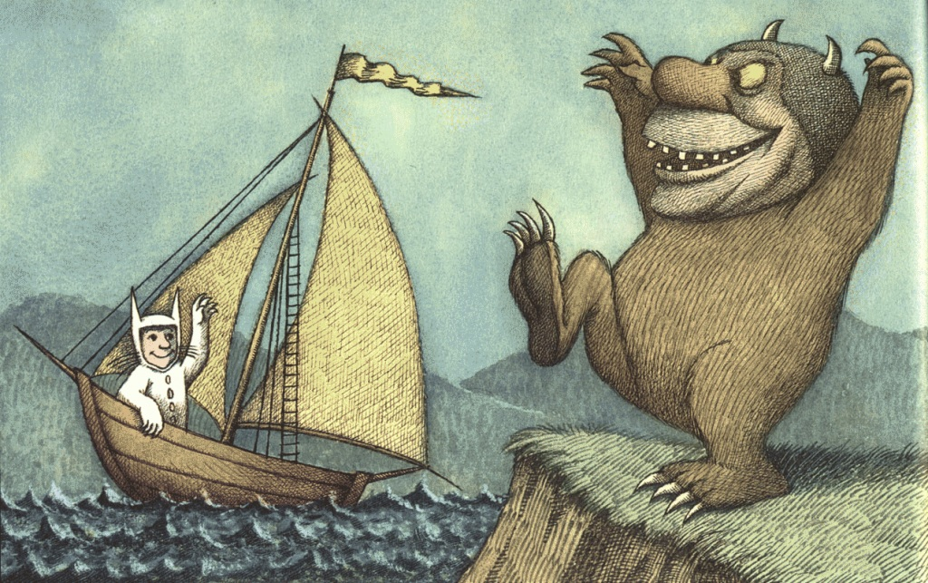 çizgili masallar: Where the Wild Things Are by Maurice Sendak