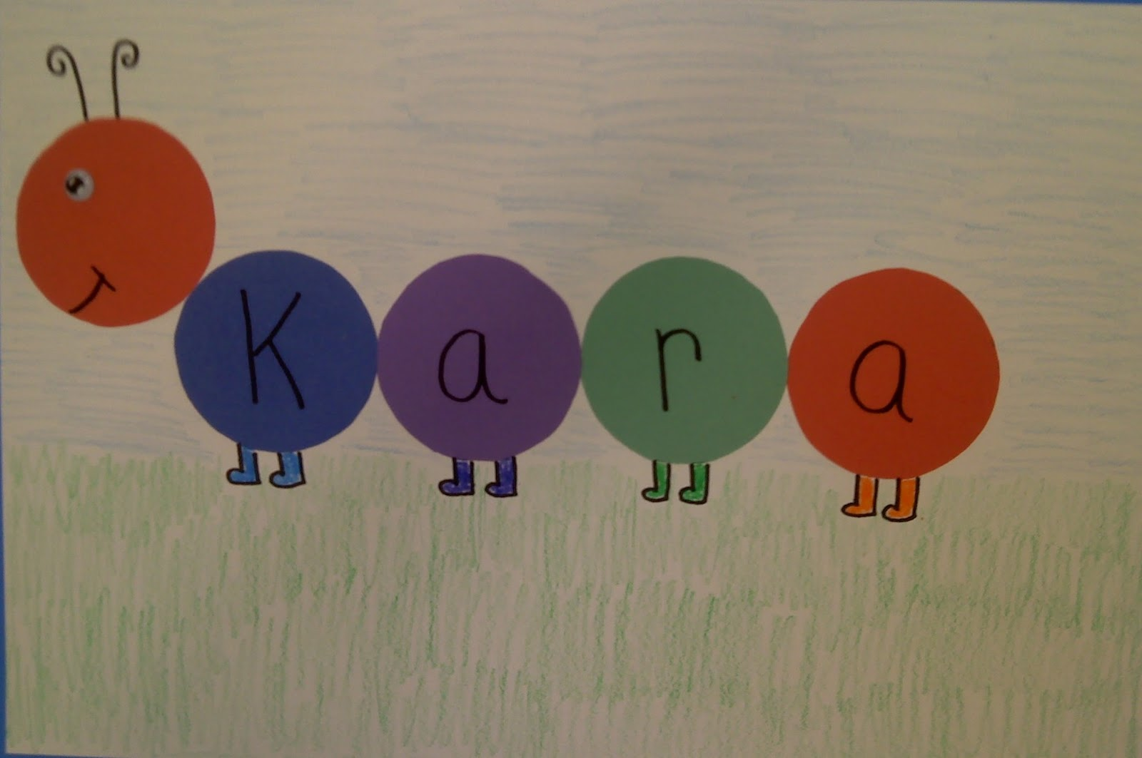 Crafts For Preschoolers Name Caterpillar