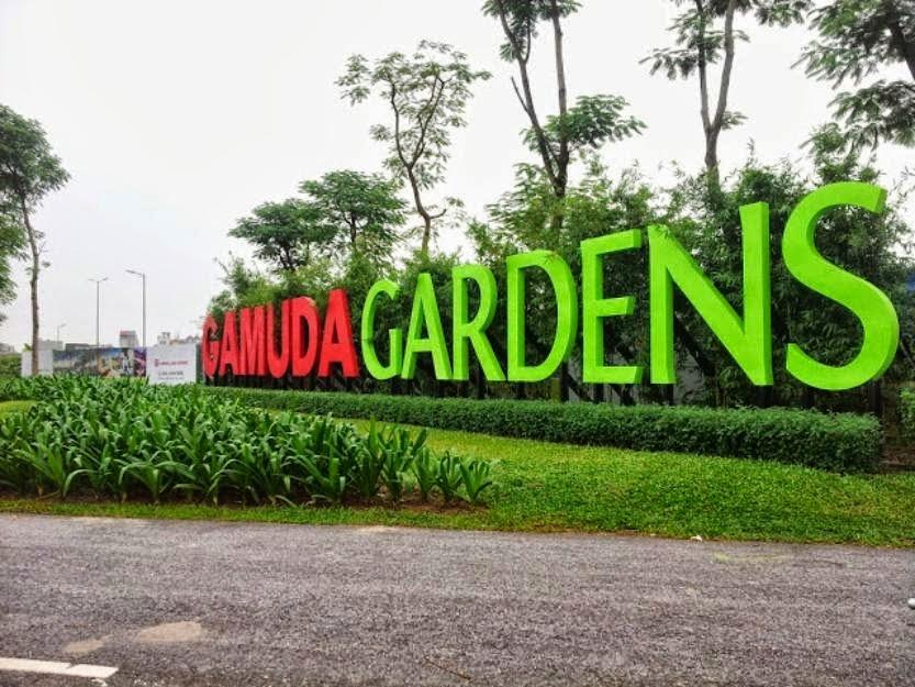 Cổng vào gamuda - gardens