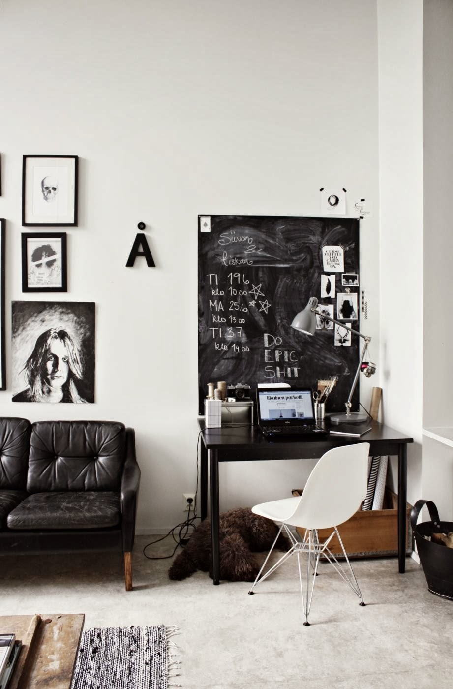 My Scandinavian Home The Black And White Workspace Of A