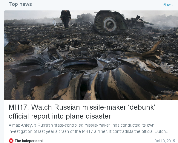 Dutch Safety Board set to say Malaysia Airlines Flight 17 downed by Russian missile-debunk