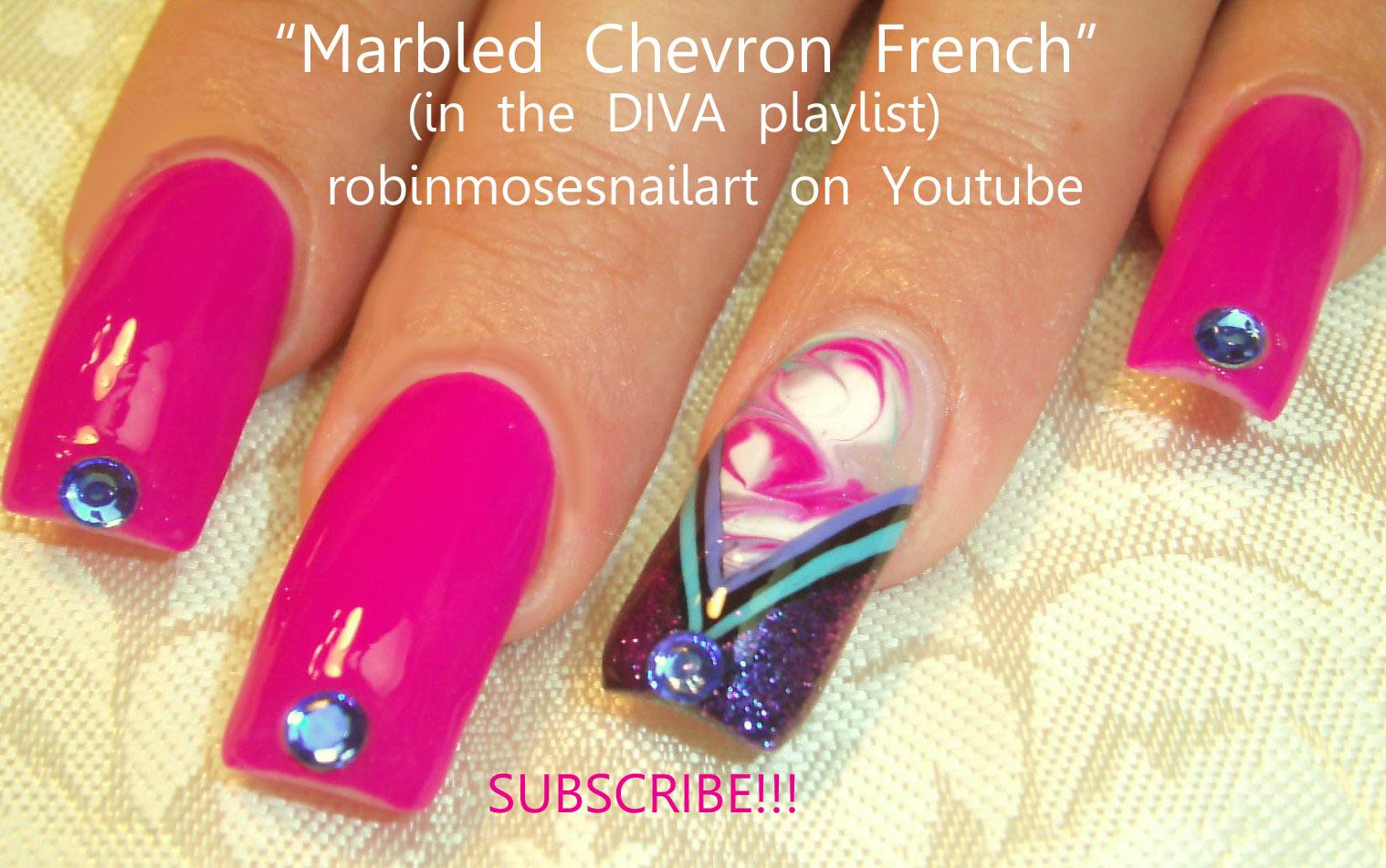 Nail Art Ideas purple and gold nail art : Robin Moses Nail Art: