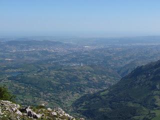 Oviedo desde el Angliru