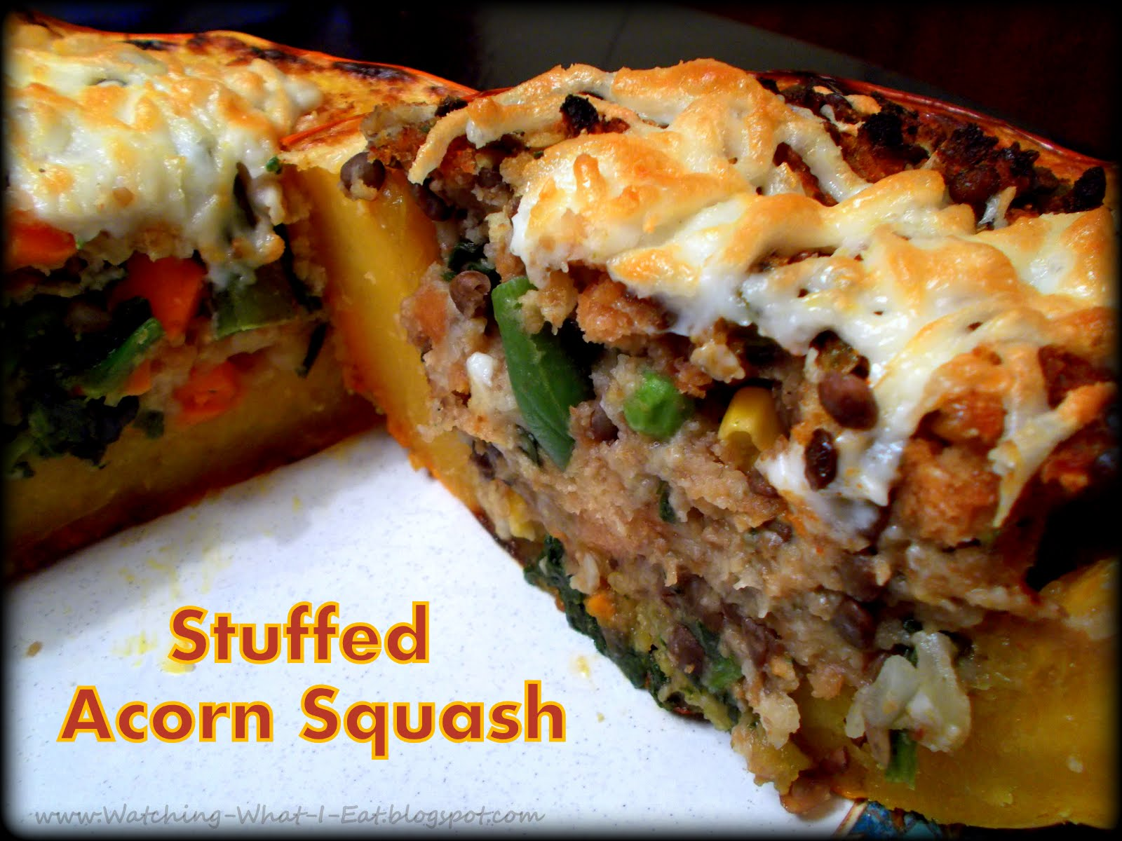 Watching What I Eat: Stuffed Acorn Squash ~ Meatless Monday