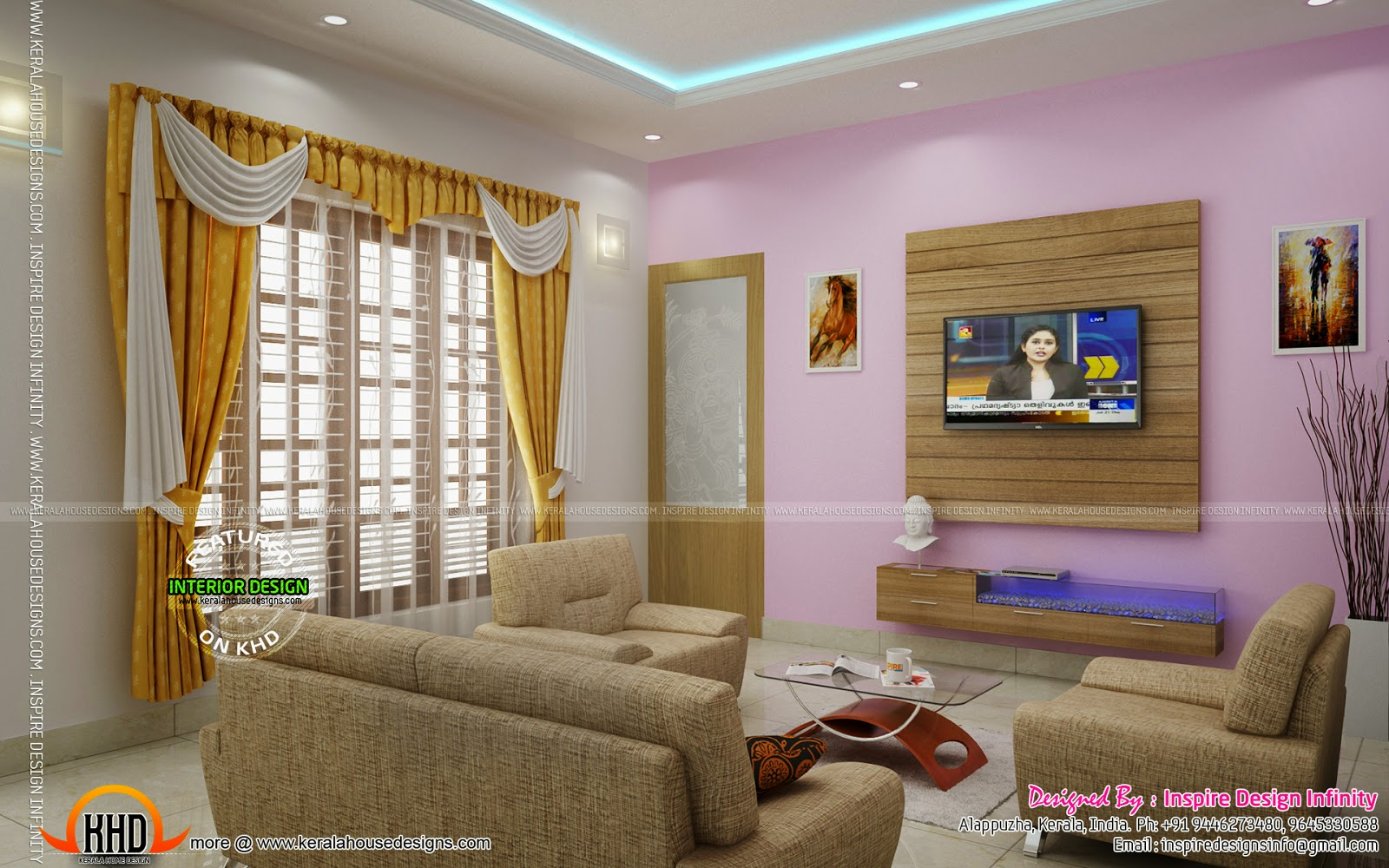 Interior designs by inspire design infinity kerala home for Kerala home interior