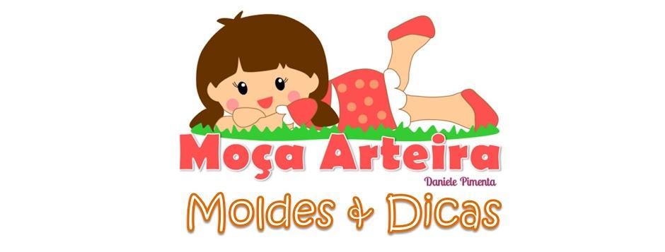εïз MOÇA ARTEIRA by Daniele Pimenta - MOLDES FOFOS! εïз