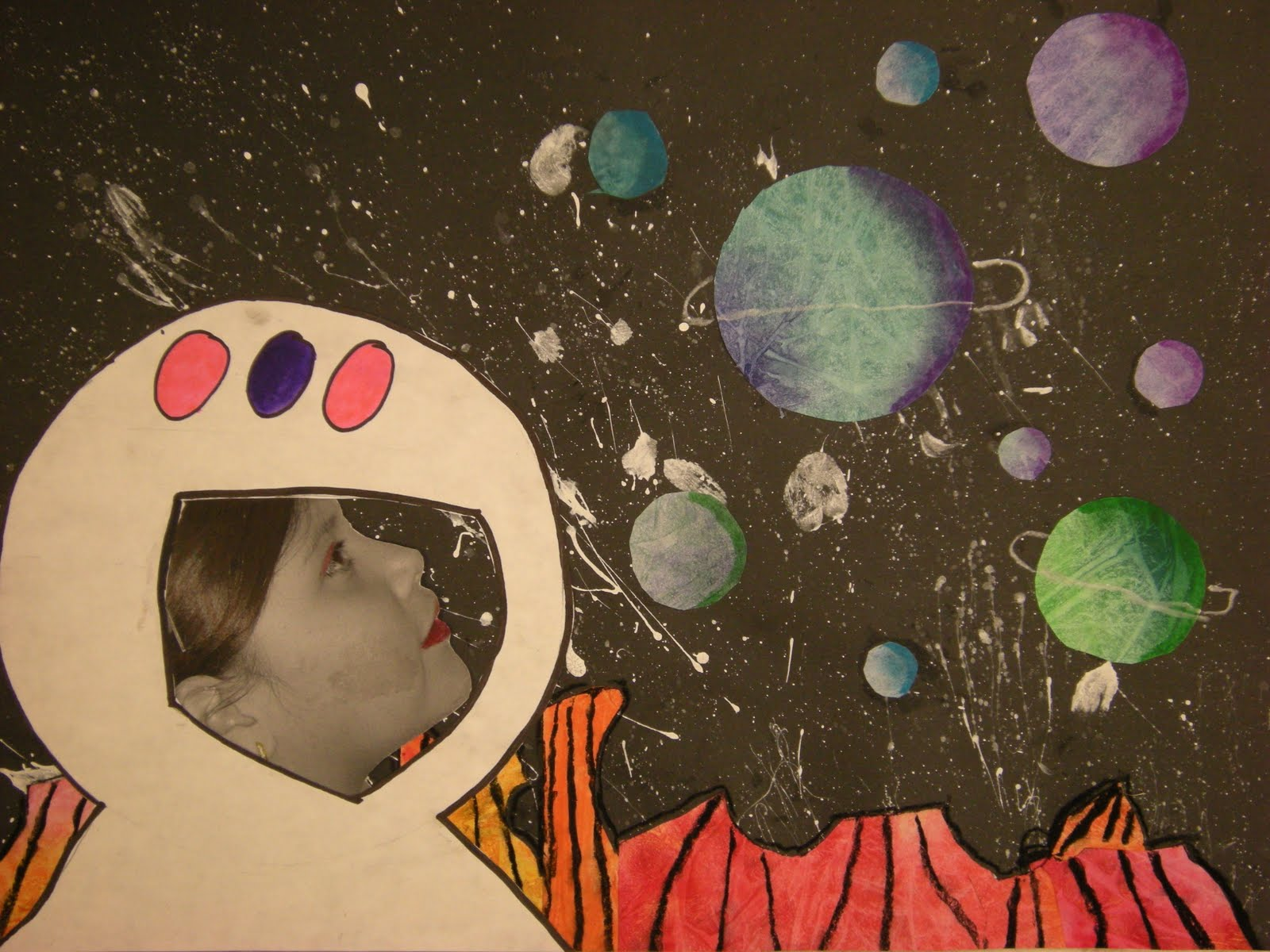 What 39 s happening in the art room 3rd grade outer space for Outer painting design