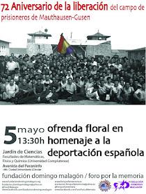 Homenaje a la deportación española