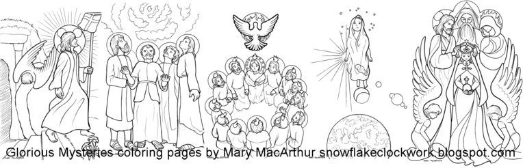 The Catholic Illustrator\'s Guild: Glorious Mysteries coloring pages