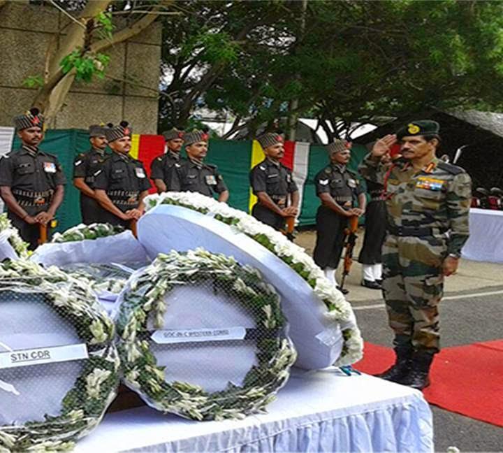 Chief of the Army Staff Gen Dalbir Singh Pays His Tribute to Saheed Nk. Damodar Thapa