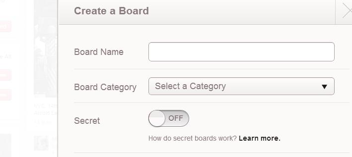 secret boards pinterest