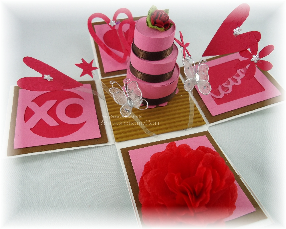 Valentine Exploding Box and Card - Jinkys Crafts