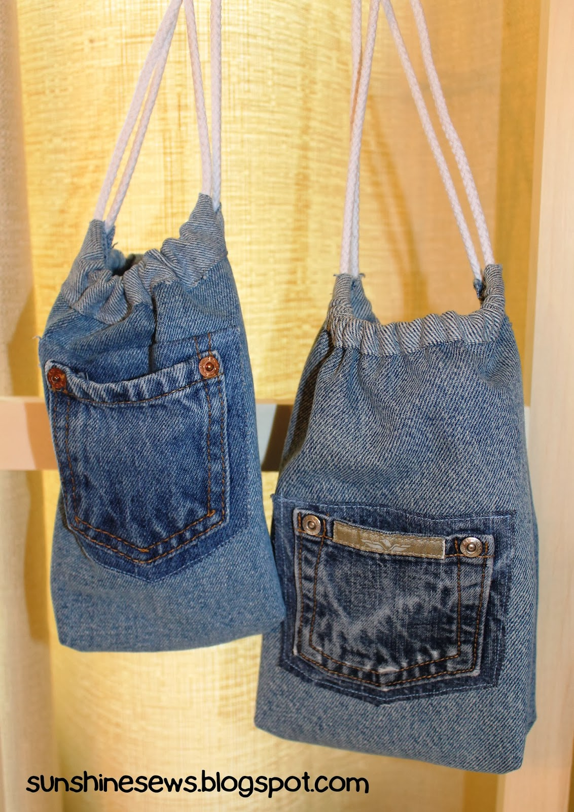 SunShine Sews... Recycled Denim Sack