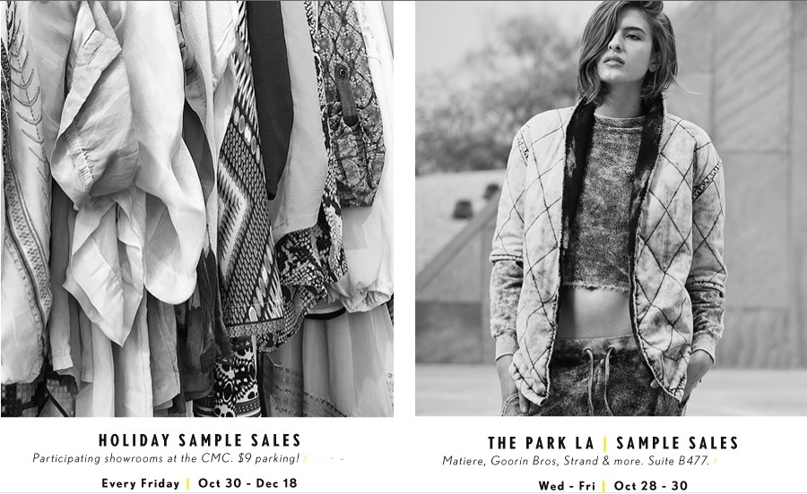 CMC Holiday Sample Sales 2015 | Fashion Blog by Apparel Search