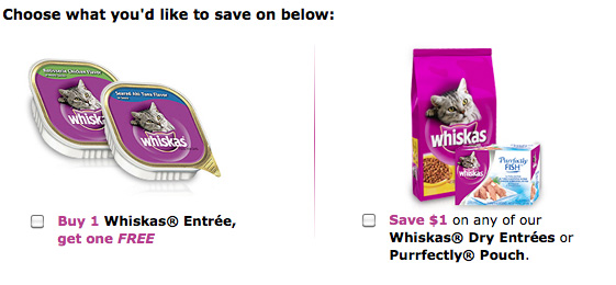 Whiskas cat food coupons 2019