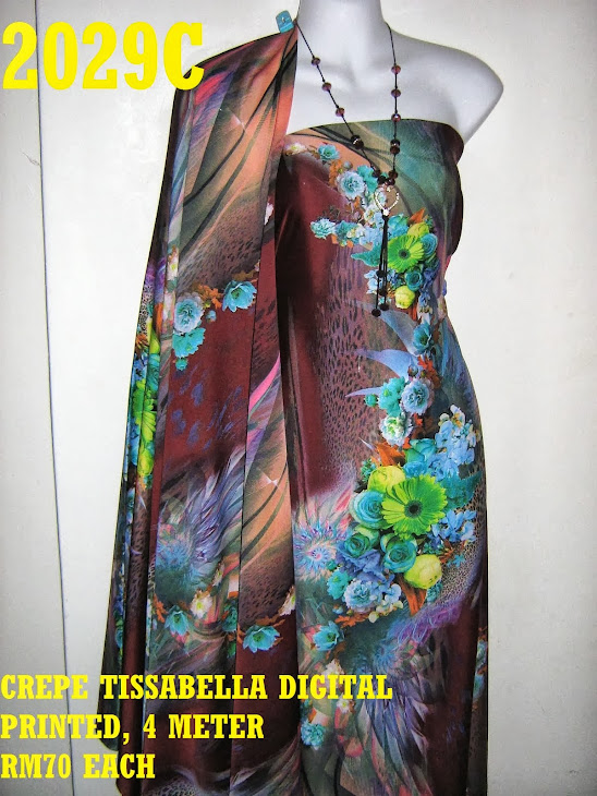 CTD 2029C: CREPE TISSABELLA DIGITAL PRINTED, EXCLUSIVE DESIGN, 4 METER