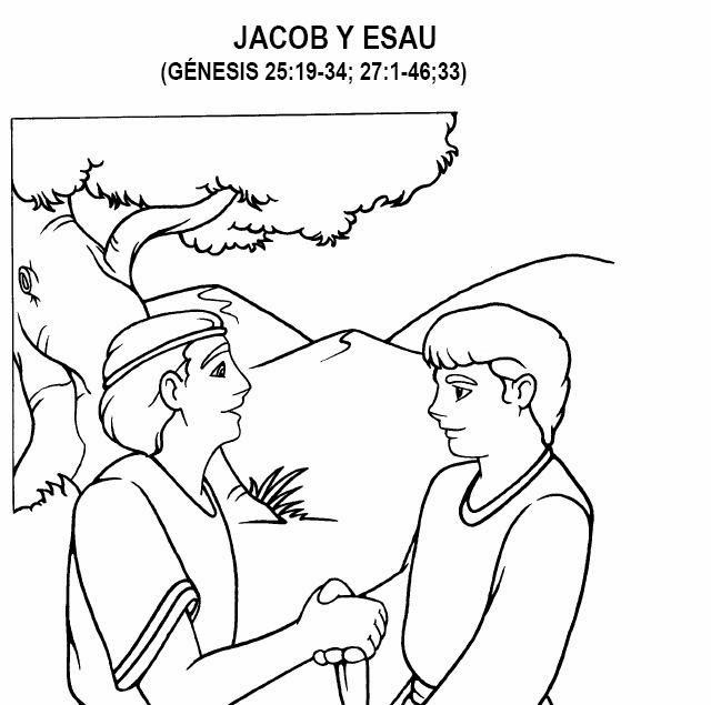 Imagenes Cristianas Para Colorear: Dibujos Para Colorear De Esau y Jacob
