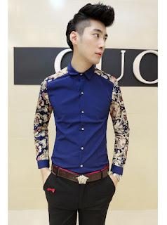 Kemeja Model Batik Korea Untuk Pria Murah Berkualitas Februari 2016