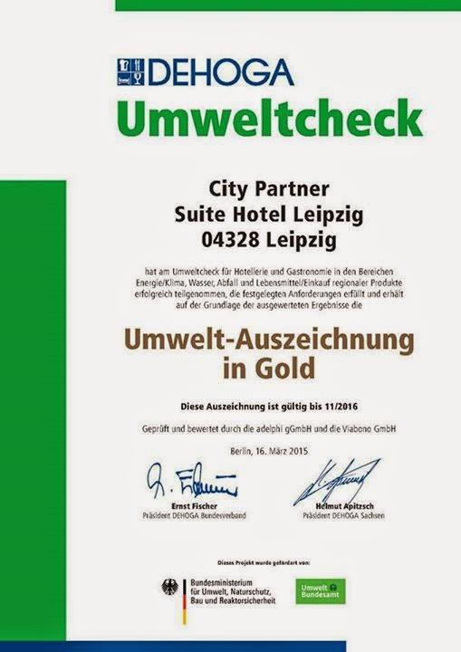 city partner suite hotel leipzig erhält auszeichnung in gold beim dehoga umweltcheck