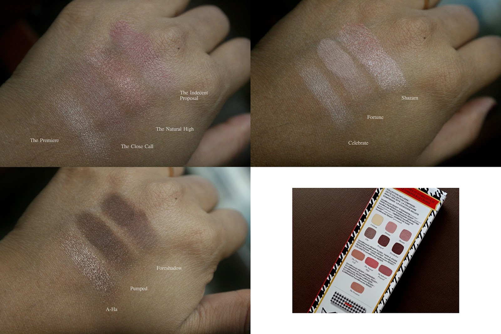 bareminerals The Magic Act Eye and Cheek Palette Swatches