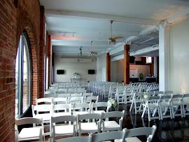 Indoor wedding ceremony for 100+ guests