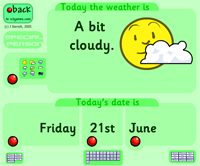 Date and weather (click and practice)