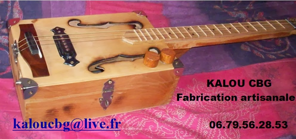 KALOU Cigar Box Guitar Fabrication artisanale de Cigar Box Guitar