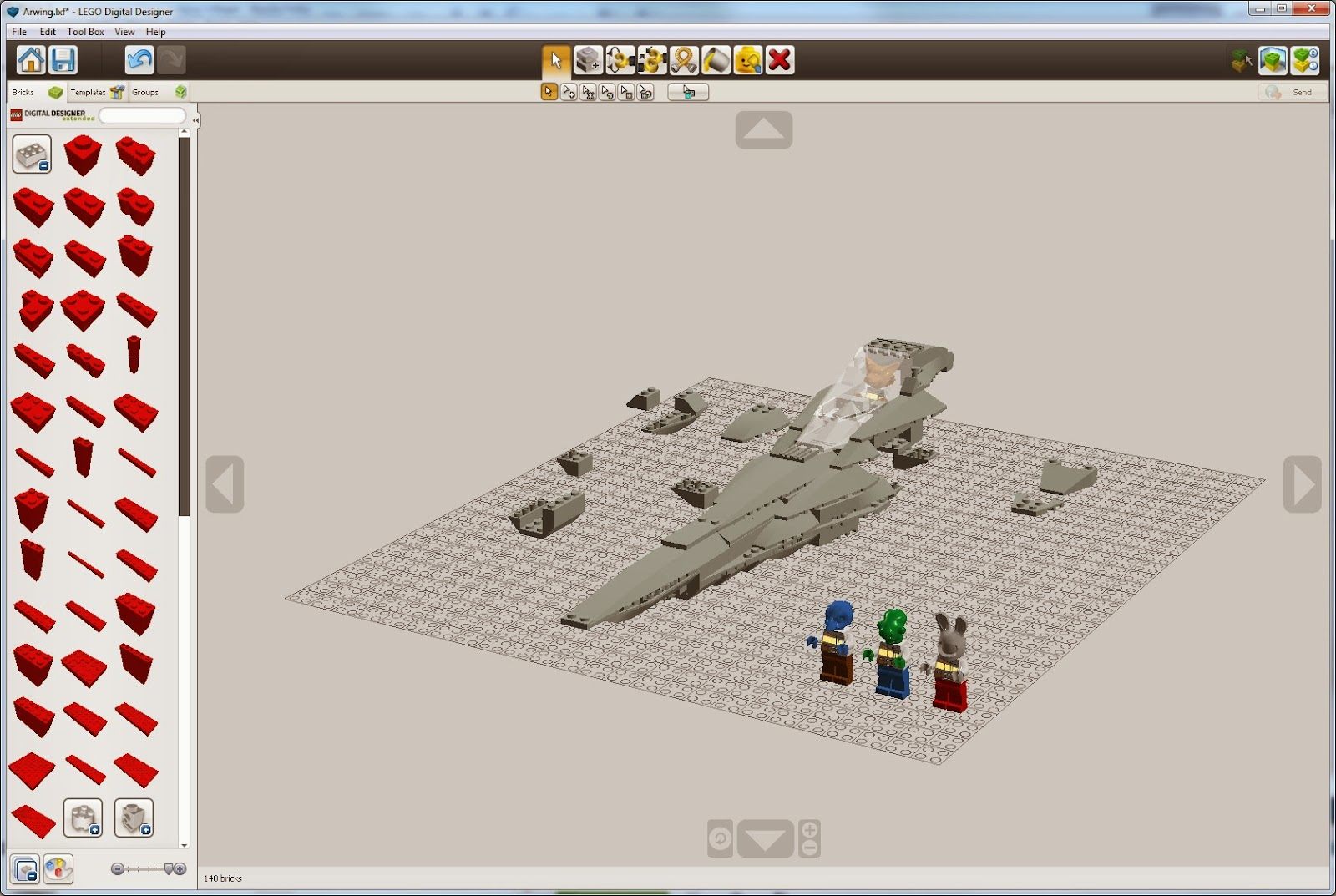 Sensible Data The Lego Arwing Part 1