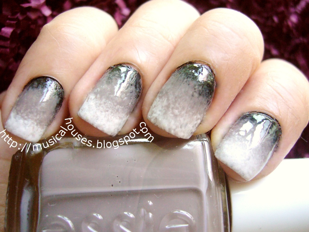 Fade to Black Gradient Manicure - of Faces and Fingers