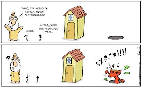 Tirinhas da Luna #60: 'Novo banheiro' | Ordem da Fênix Brasileira