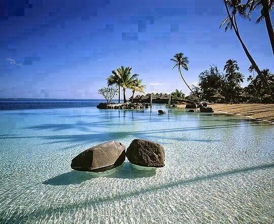 tahiti, river, beautiful