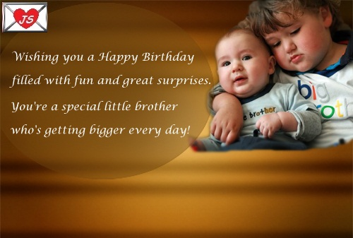 Birthday Wishes For Young Brother Special Little Brther