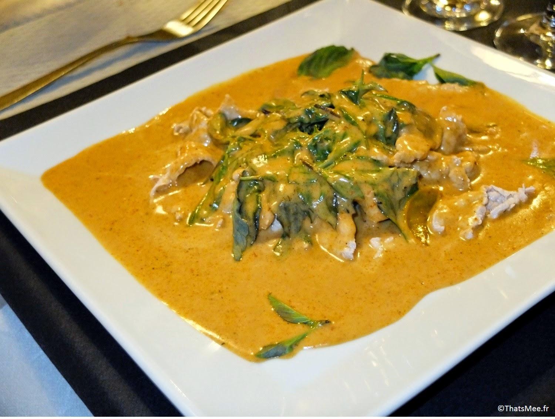 Thai Spices resto Cantine Thaï Paris curry rouge basilic poulet