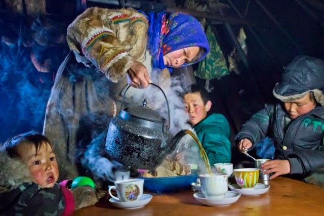 la hora del te en Yamal