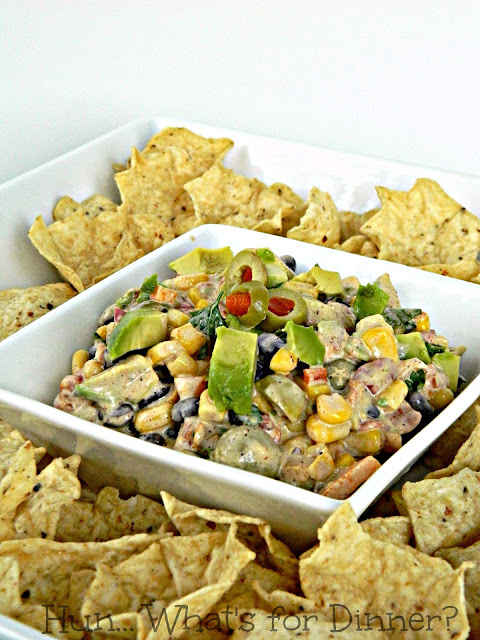Corn & Black Bean Salsa Dip- Secret Recipe Club