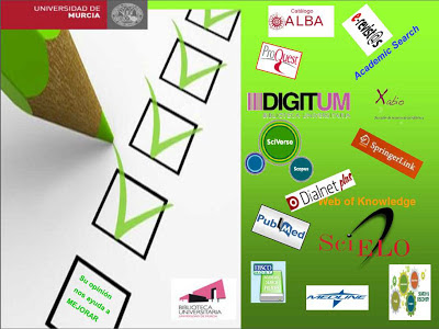 Biblioteca General Universidad de Murcia, encuesta de satisfacción de usuarios para el pdi