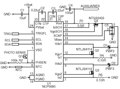 Schematic Reference High Efficiency White LED Driver